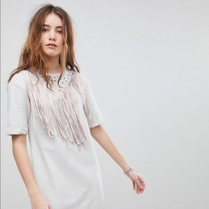 ASOS Suede Fringe Dress